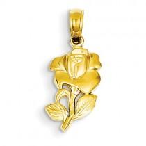 14k yellow gold flower charm