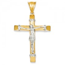 Men's two tone crucifix