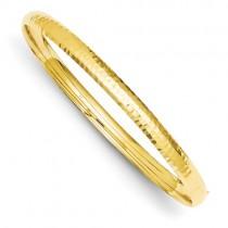 14k 3/16 Fancy Hammered Hinged Bangle Bracelet