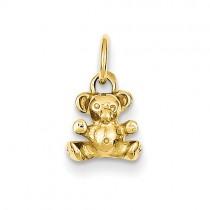 14k Yellow Gold teddy bear charm
