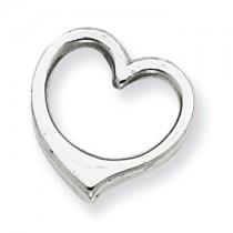 Gold heart chain slide