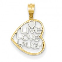 14K Live Love Laugh charm