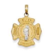 Yellow gold St. Florian medal