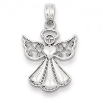 White gold Angel charm