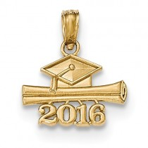 14k 2016 Graduation Cap And Diploma