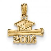 14k 2016 Graduation Cap And Diploma