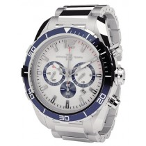 Officina Del Tempo Armatore 42mm White Chronograph Stainless Steel Watch