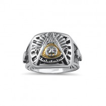 Sterling Silver Past Master ring
