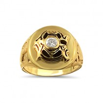 "Men's Oversized ""G"" Masonic ring"