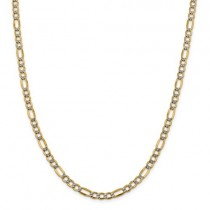 "14k 20"" 5.25mm Semi-Solid Pavé Figaro Chain"