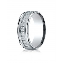 14k .96ct mens channel set diamond ring