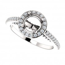 Luna Piena halo engagement ring setting