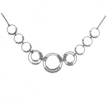 .925 saturn cirlce necklace