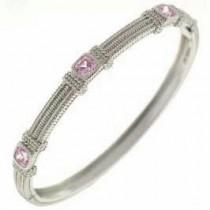 Pink Crystal Stackable Bangle