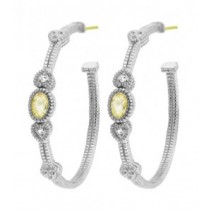 Canary stone hoops with hearts
