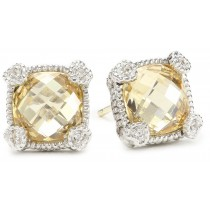 Canary crystal stud earrings