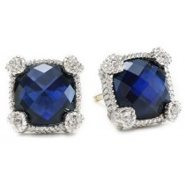 Small cushion cut stone earring