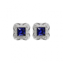 Blue estate earrings