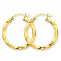 Yellow gold spiral hoops