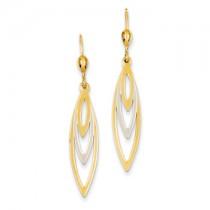 Two tone hanging earrings