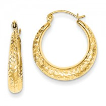 Yellow gold genie hoops