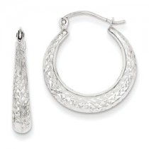 White gold genie hoops