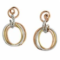 Trio hanging earrings