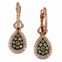 14 Rose Gold Diamond espresso earrings