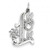 14k White Gold #1 Mom Charm