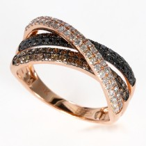 14k Espresso collection rose gold diamond ring