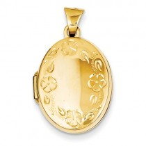 Yellow Gold 14k Hand Engraved Locket