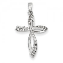 White gold Diamond cross