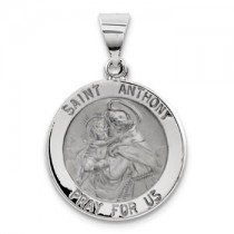 White gold St. Anthony medal