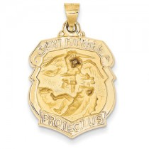 Yellow gold St. Michael shield