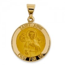 Yellow gold St. John medal