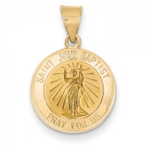 Yellow gold St. John the Baptist medal