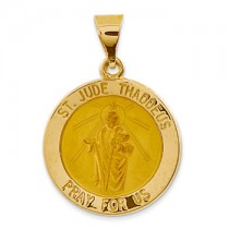Yellow gold St. Jude medal