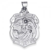White gold St. Michael shield