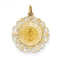 Yellow gold Miraculous Medal