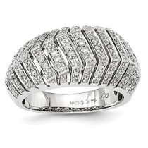 14K White Gold Diamond Pavé Ring