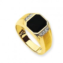 14k Yellow Gold AA Diamond Ring