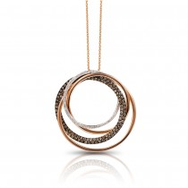 14k prism collection rose gold diamond pendant