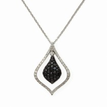 14k prism collection diamond pendant